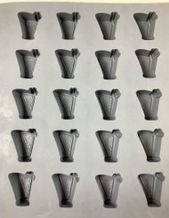 RUBBER CANDY MOLDS HARP 20 CAVITIES