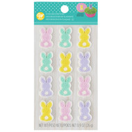 ICING DECO BUNNY DOT MATRIX PASTEL 12 CT
