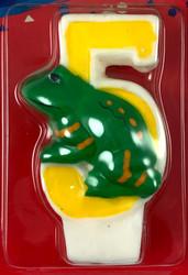 CANDLE BIRTHDAY #5 FROG
