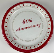 "PLATES 10"" 40TH ANNIVERSARY 25 CT"