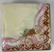 BEV NAPKINS CHERUBS 36 CT