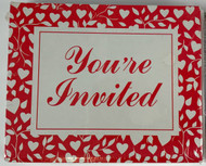 INVITATIONS HEART/RED VINES 25 CT