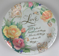 "PLATES 10"" LOVE ETERNAL 18 CT"