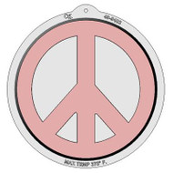 CAKE PAN PLASTIC PEACE SIGN