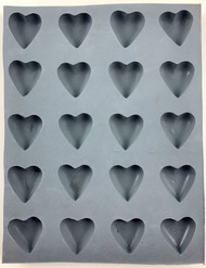 RUBBER CANDY MOLDS HEART SMALL 20 CAVITIES