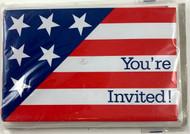 INVITATIONS FLAG IMPRESSION 8 CT