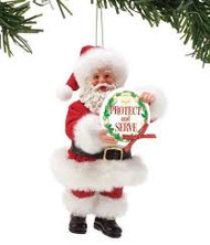 PD6002147 SANTA PROTECT AND SERVE ORN