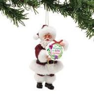 PD6002159 SANTA WINE CHRISTMAS ORN