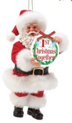 PD6002156 SANTA 1ST CHRISTMAS TOGETHER ORN