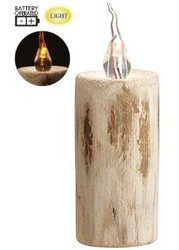 WOODEN CANDLE FAUX  5.11""