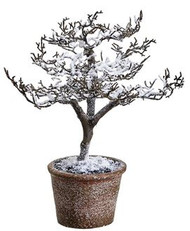 "TWIG TREE SNOWED IN POT 11"" MACHE"