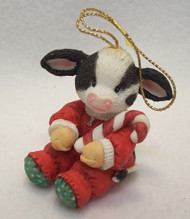 MM651320 BABY COW WITH CANE ORNAMENT