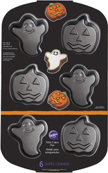 CAKE PAN MINI HALLOWEEN ASST NON-STICK