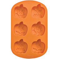 MOLD SILICONE JACK-O-LANTERNS 6 CAVITIES