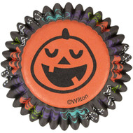 BAKING CUPS MINI PUMPKIN FACE 100 CT