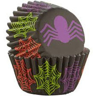 BAKING CUPS MINI HALLOWEEN SPIDERS 100 CT