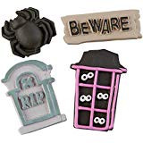 ICING DECO HAUNTED HOUSE DESIGNS 4 CT