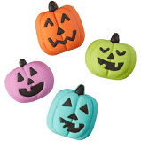 ICING DECO JACK-O-LANTERS ASST COLORS 12 CT