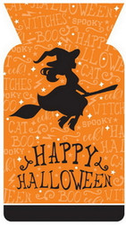 PARTY TREAT BAGS HAPPY HALLOWEEN 5 x9 20 CT