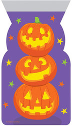 PARTY TREAT BAGS STACKED PUMPKINS 20 CT