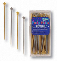 PARTY PICK STARS GOLD-SILVER 200 CT