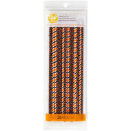 TREAT STICKS HALLOWEEN ORANGE-BLK 8 IN. 25 CT
