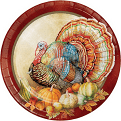 """PLATES 10"""" TRADITIONS OF THANKSGIVING 8 CT"""