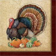 BEV NAPKINS HARVEST TURKEY 16 CT