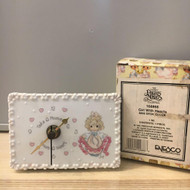 Precious Moments Mini Desk Clock Girl/Hearts 168866