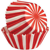 BAKING CUPS MINI CANDY STRIPE 100 CT