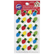 ICING DECO CHRISTMAS LIGHT BULBS 24 CT
