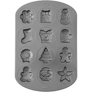 COOKIE PAN NON-STICK HOLIDAY ICON SHAPES