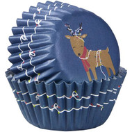 BAKING CUPS MINI REINDEER 100 CT