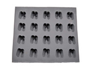 RUBBER CANDY MOLDS BABY BOOTIES 20 CAVITIES