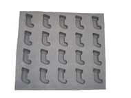 RUBBER CANDY MOLDS STOCKING 20 CAVITIES