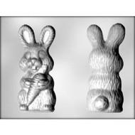 """MOLD BUNNY W/CARROT 3D X2 6"""""""