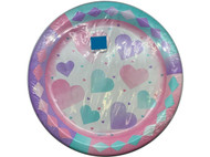 PLATES 7 WATERCOLOR HEARTS 8 CT