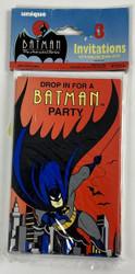 INVITATIONS BATMAN  8 CT