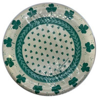 PLATES 8 IVORY SHAMROCKS 10 CT