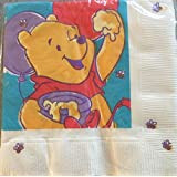 BEV NAPKINS POOH PARTY 16 CT