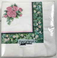 BEV NAPKINS TEAL/ROSE 50 CT