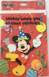 INVITATIONS MICKEY 8 CT