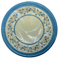PLATES 7 PEACH & BLUE DOGWOOD 10 CT