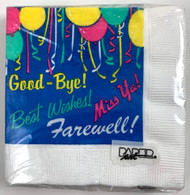 BEV NAPKINS FAREWELL GOOD-BYE 20 CT