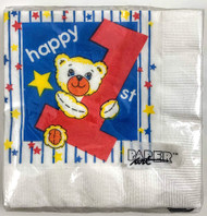 BEV NAPKINS ONE TODAY BOY 16 CT