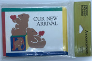 "New Arrival Baby Blocks Design Baby  Birth Announcements. 8 Fold- over cards and 8 Envelopes. Inside message headings"" Name Date of birth, Weight and Parents."