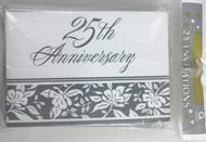 INVITATIONS 25TH ANNIVERSARY 25 CT