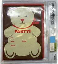 INVITATIONS PARTY BEAR 8 CT
