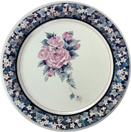 PLATES 7 TEAL & ROSE 18 CT