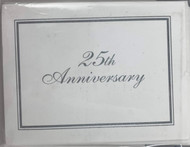 INVITATIONS 25TH ANNIVERSARY 8 CT